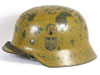 Army M35 double decal helmet with tropical camouflage finish