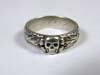 Schutzstaffel Totenkopfring ( SS Honor Ring) awarded to SS F�hrer Herrmann