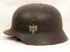 Army re-issued M35 single decal combat helmet by Quist