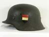 Army M42 combat helmet with hand-painted shields for French Foreign Volunteer