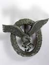 Luftwaffe Pilot badge unmarked late zinc