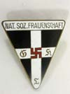 MEMBERSHIP BADGE  NATIONAL SOZ. FRAUENSCHAFT