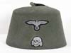 Waffen SS field gray fez as worn by the Handshar Division