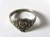 SS canteen skull ring on shield with the letter C