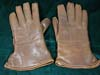 Luftwaffe officer brown leather gauntlet style gloves