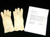 Army officer dress white gloves with accompanying letter