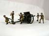 Toy Army Workshop, BS101, 18 PDR Field Gun and 6 Crew in action