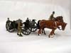 Toy Army Workshop, BS106 Double Limber Open 3 Gunners 2 horses, 1 rider