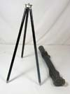 German Observation scope tripod in original leather case