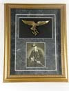 Framed photograph with Luftwaffe eagle