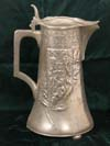 Large Prussian Brandenburg pewter pitcher commemorating the unification of Germany by Bismarck
