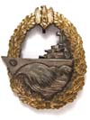 Kriegsmarine Destroyer badge, unmarked