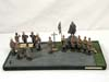 Imperial German Army metal Lineols set of 13 figures on base
