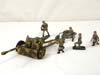 German Army 76mm anti-tank gun set with five man crew by Weiner Krock