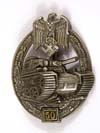 Army /Waffen SS Panzer Assault Badge in Silver for 50 engagements by Gustav Brehmer