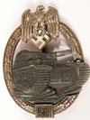 Army /Waffen SS Panzer Assault Badge in silver for 25 engagements by JFS