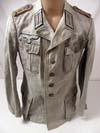 Rare Army 1st pattern tropical service tunic for a Hauptmann (captain) Panzer officer