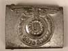 Waffen SS painted steel belt buckle marked RZM 155/43 SS