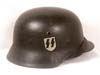 Waffen SS single decal combat helmet by ET
