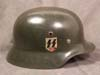 Waffen SS M35 double decal re-issued Army helmet by Quist
