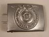 Waffen SS enlisted/nco silver washed aluminum belt buckle