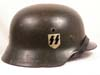 Waffen SS M35 double decal combat helmet by ET