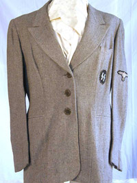 SS Helferinnen named service jacket with skirt and very rare SS woman's service cap