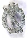 Heer / Waffen SS Infantry Assault badge in silver