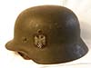 Army re-issued M35 single decal combat helmet named