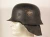 Feuerschutzpoliei M34 double decal helmet with neck apron