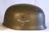 Luftwaffe Fallschirmjager M38 single decal helmet with early spanner bolts