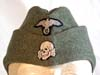 Mint, un-issued Waffen SS nco/enlisted M40 overseas cap