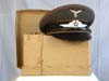 Early Luftwaffe nco/enlisted signals ( Nachtrichten ) visor hat by Carl Halfar with original send-home carton