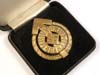 Hitler Youth Golden Leader Sports badge # 8527, RZM M1/101 with LDO case
