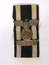 WWI Iron Cross 2nd Class  ribbon with 1939 Spange