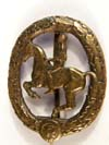 German Horseman's ( Reiterabzeichen) badge in bronze