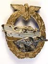 Kriegsmarine 2nd E-Boat badge by AS