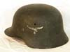 Un-issued Luftwaffe single decal combat helmet by ET