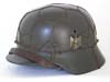 Army M40 single decal combat helmet with half basket chickenwire by ET