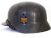 Kriegsmarine M40 blacked striped camouflage helmet by Quist
