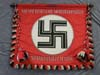 Very rare DEUTSCHLAND ERWACHT Standard flag with crosspole and tassels