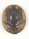 Army/ Waffen SS General Assault badge for 25 engagements by RK