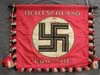 Very rare DEUTSCHLAND ERWACHT Standard flag with black ( Schutzsstaffel, SS ) crosspole and tassels