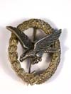 Luftwaffe Air Gunner badge with lightning bolts removed by B &NL