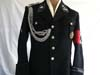 Very rare SS-Totenkopfverbande Oberbayern Hauptst�rmfuhrer's black service tunic with matching breeches