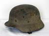 Named Army single decal M40 helmet with rough texture Normandy camouflage