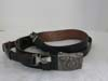 SS/ VT steel buckle by RODO with black leather strap
