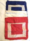 Set of three signal flags with carrying case cotton
