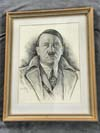 Adolf Hitler portrait accomplished in pencil by Saafeld and dated 1939