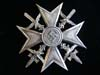 Spanish Cross with swords in silver marked L/11